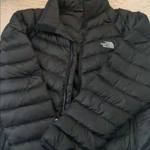 Black north face down jacket